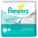 Discount Pampers Baby Wipes Sensitive 3X 168 Count