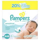 Shop For Pampers Sensitive Wipes 7X Box 448 Count
