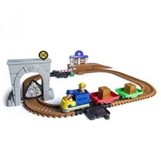 Promo Paw Patrol Adventure Bay Railway Track Set With Exclusive Vehicle By Spin Master Intl