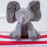 Price Peek A Boo Elephant Baby Plush Singing Flappy Stuffed Animated Toy Grey Intl Oem Original