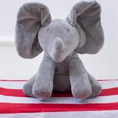 Peek A Boo Elephant Baby Plush Singing Flappy Stuffed Animated Toy Grey Intl Lowest Price