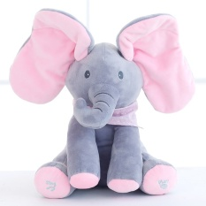List Price Peek A Boo Elephant Plush Toy Electronic Flappy Elephant Play Hide And Seek Baby Kids Soft Doll Birthday Gift For Children Intl Oem