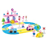 Retail Price Peppa Pig And Friends The Track Racing Parking Lot 41Pcs Set Peppapig Friends