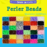 Price Comparison For Perler Beads Fuse Beads Hama Kids Beads Kit 11000 Pcs 36 Colors Craft Beads For Children Intl