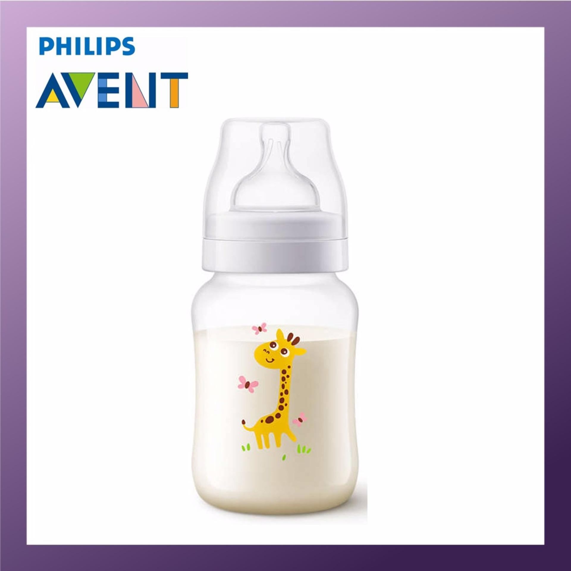 Best Offer Philips Avent 260Ml Pp Classic Plus Bottle Single Pack Giraffe