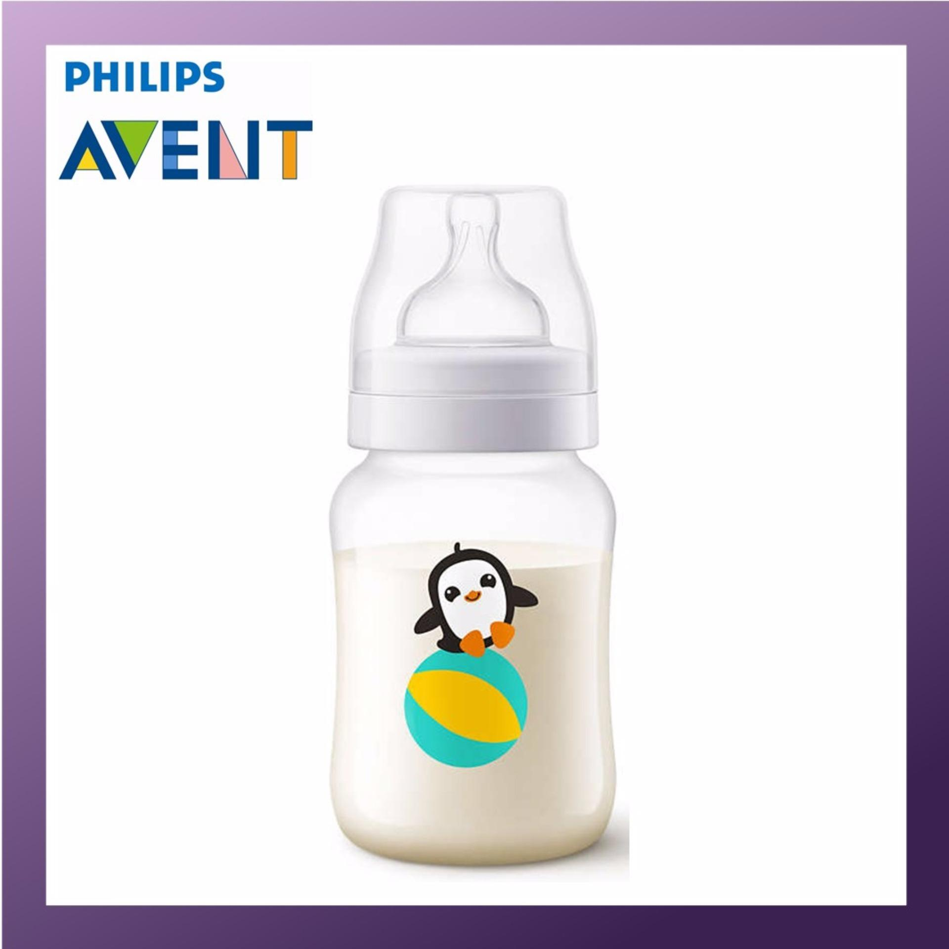 Cheap Philips Avent 260Ml Pp Classic Plus Bottle Penguin