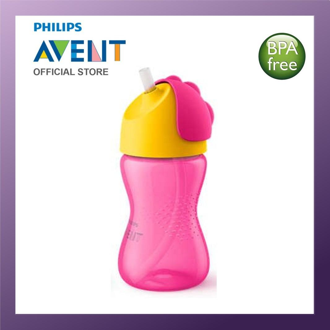 Sale Philips Avent Bendy Straw Cup 330Ml Pink Philips Avent Wholesaler