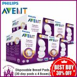 Best Reviews Of Philips Avent Disposable Breast Pads 30 Day Pads X 4 Boxes