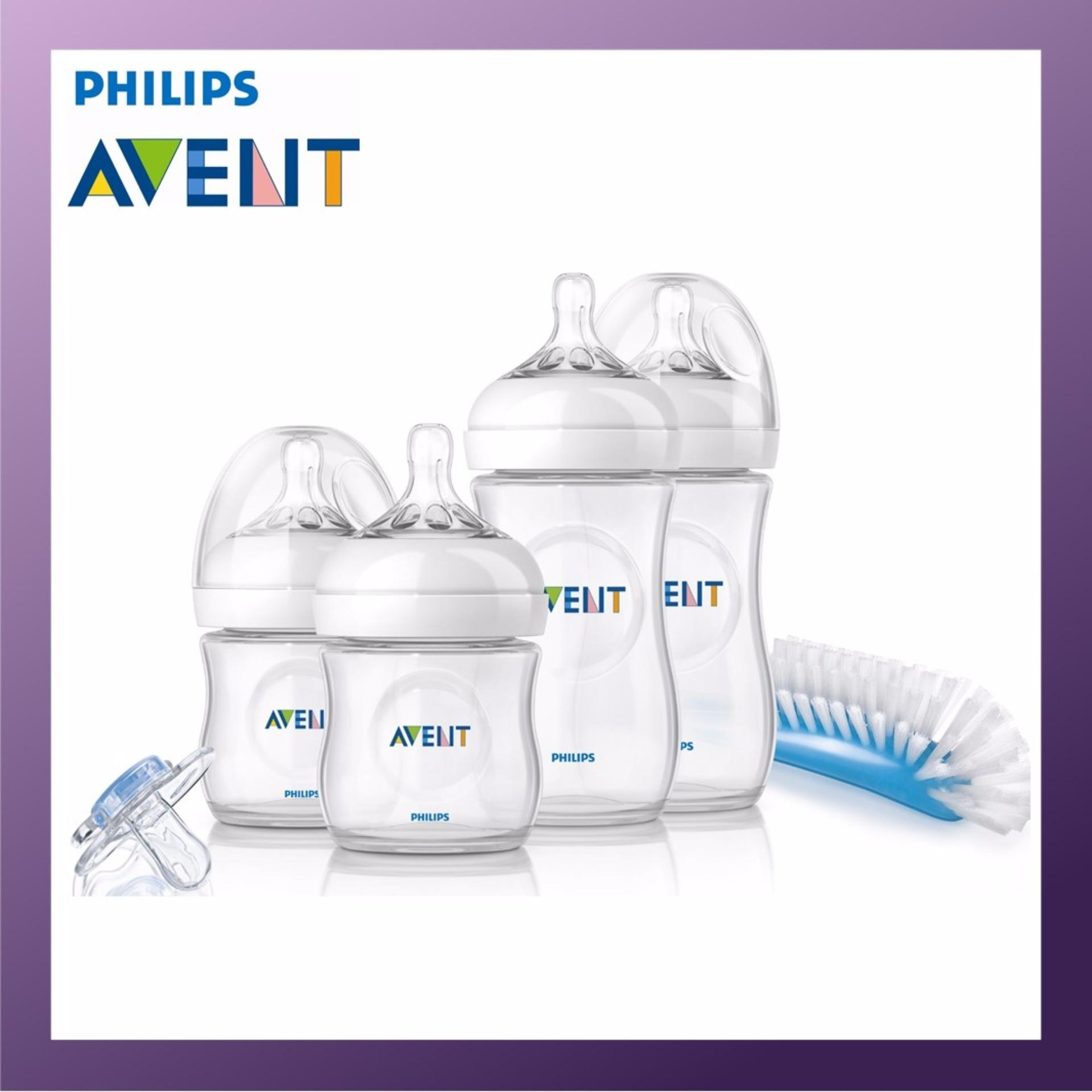 Buy Philips Avent Natural Newborn Starter Set Including 4 Nature Bottles 1 Brush 1 Pacifier Philips Avent