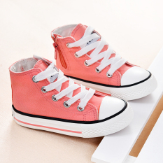 Sale Children Girls Hight Top Summer Canvas Shoes Cloth Shoes