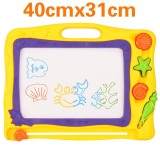 Discount Plastic Magnetic Large Drawing Board Baby Writing Paint Pad Children Sketchpad Painting Kid Toys Style Ocean Yellow Oem