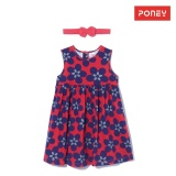 Poney G*rl Floral Red Dress W Free Headband And Unders Red Best Buy
