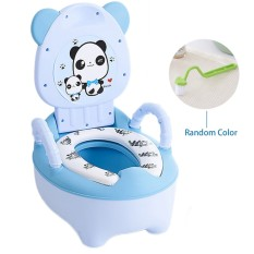 Portable Baby Toilet Training Chair Seat Cute Cartoon Multi Functional Drawer Style Kids Baby Potty Chair With Handrails Soft Cushion Safe Kids (pink/blue) - Intl By Stoneky.