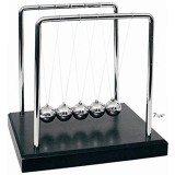 Price Powertrc® Newtons Cradle Balance Balls 7 1 4 Black Wooden Base Intl South Korea