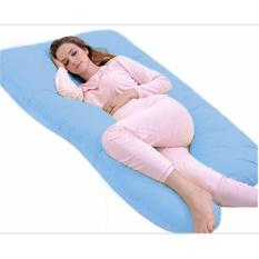 Sale Pregnancy Full Support Pillow With Cover Blue Oem Branded