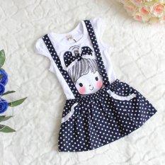 Compare Price Princess Baby Dress Girls Kid Polka Dot Dress Clothes Skirt Child Overalls Dress White Intl On China