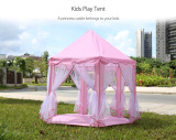 Latest Princess Castle Play Tent Fairy House Playhouse Toy Light Pink