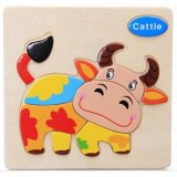 Ptq Cattle Shapes Children Wooden Puzzle Educational Toys Intl Lower Price