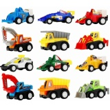 Pull Back Vehicle Assorted Construction Vehicles And Racer Cars Truck Mini Car Toy Play Set For Kids Birthday Game Party Favors Classrooms Rewards 12 Pcs Intl Coupon Code