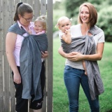 Price Comparisons Pure Linen Ring Sling Baby Carrier Grey Intl
