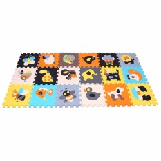 Puzzle Play Mat Interlocking Puzzle Pieces Promote Visual Sensory Development Soft Baby Floor Mat 18 Tiles With Vibrant Animal Images To Capture Childrens Attention Foam Eva Mat 010011 - Intl By Mqiaoham.