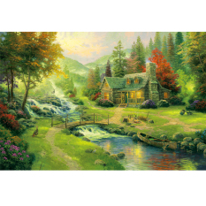 Price Mimosifolia Puzzle Toys Children *D*Lt Decompression Games 1000 Piece Jigsaw Home Decoration Scenery Bridge Water Hong Kong Sar China