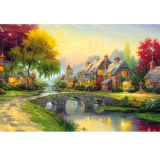 Buy Mimosifolia Puzzle Toys Children *d*lt Decompression Games 1000 Piece Jigsaw Home Decoration Scenery Summer Intl Mimosifolia Online