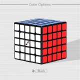 Review Qiyi Wushuang Plastic 5X5X5 Stickerless Speed Cube Puzzle Magic Cube Black Intl Oem On China