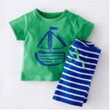 Shop For Roadwayer 100 Cotton Kids Baby Boys Striped Anchor Pattern Short Sleeve Clothing Sets Intl