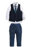 Rorychen 4Pcs Boy S Tuxedo Semiformal Suit For Sale