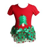 Rorychen Christmas Trees Printed Baby Dress Export Deal