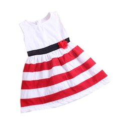 Deals For Rorychen Floral Baby Girls Sleeveless Strips Dress For Summer Export