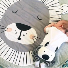 Rorychen Lion Print Cotton Child Crawling Pad Game Pad Playmats Living Room Bedroom Mats Thicker Children S Crawling Pad Intl Free Shipping