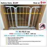 New Safety Gate 2 Extension 81 124Cm