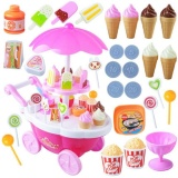 Sale Saideng 39Pcs Kids Pretend Play Toy Set Mini Simulated Candy Wheelbarrow Ice Cream Store Play House Toys Style Pink Intl Saideng Cheap
