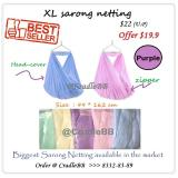Price Comparison For Sarong Yaolan Cradle Spring Cot Net Xl Size