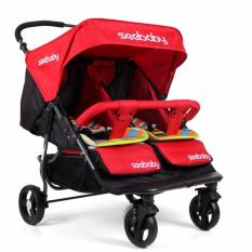 Who Sells The Cheapest Seebaby Side By Side T22 Twin Stroller Blue Red Online
