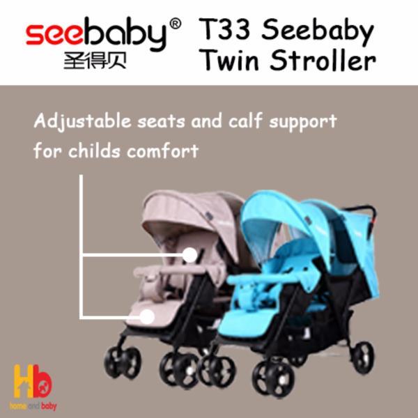 SEEBABY T33 TWIN STROLLER Singapore