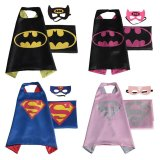 Best Price Set Of 4 Superhero Dress Up Costumes Cape Mask For 3 6 Year Kids Halloween Costumes Cloak Intl