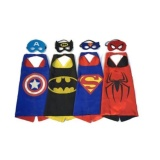 Buy Set Of 4 Superhero Dress Up Costumes Cape Mask For 3 6 Year Kids Halloween Costumes Cloak Intl Cheap China
