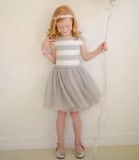Short Sleeve Striped Dress G*Rl Clothes Summer Dress Tutu Princess Party Dress Solf Cotton Toddler Kids Girls Dresses Intl Coupon
