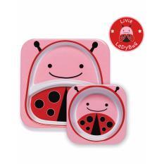 Price Skip Hop Zoo Melamine Plate Bowl Set Ladybug Online Singapore