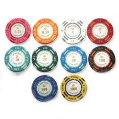 Cheap One Barrel 25 Chips Smiths Monte Carlo Poker Room Poker Chips 1 Dollar White