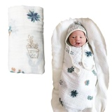 Cheap Softest Muslin Swaddle Baby Blankets 70 Bamboo 30 Cotton Pineapple Pot Plant Print For Baby G*rl And Boys Shower Gift Intl Online
