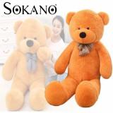 Coupon Sokano Giant 100Cm Teddy Bear Plush Soft Toy Birthday Present Best Gift Design A Scarf Bear Intl