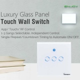Best Reviews Of Sonoff T1 3 Button Wifi Rf 86 Type Timing Switch App Touch Rf Remote Control Intl