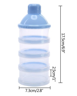 sougou Portable Non-Spill Baby Formula Milk Powder Dispenser / Storage Snack Container BPA Free Blue