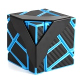 Brand New Speed Soomth Carbon Fiber 3X3 Puzzle Cube Blue Black Intl