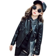 How Do I Get Spring Autumn Baby Kids Girls Leather Jacket Children Outwear Coat Clothes Intl