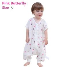 Review Summer Brethable Thin Baby Sleep Sack Muslin Cotton Sleeping Bag Softmuslin Short Sleeve Sleepwear Romper Toddler Infant Sleeping Clothing Vest Pink Butterfly S Intl On China